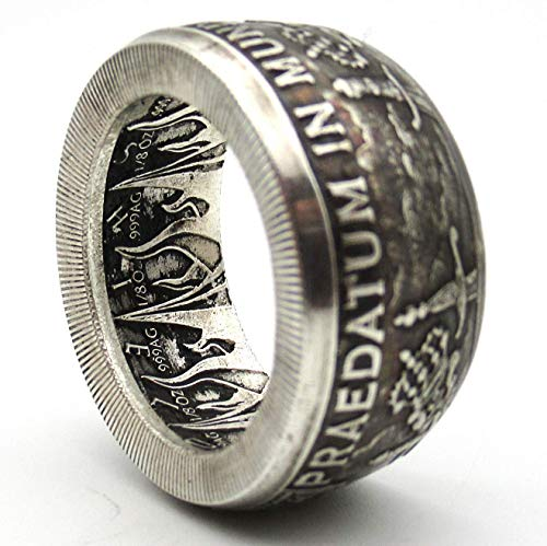 - Pieces of Eight Pirate coin ring. Pure silver coin ring Praedatum In Mundo