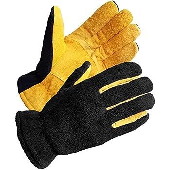 Leather Winter Work Gloves, 100-gram Thinsulate Insulation