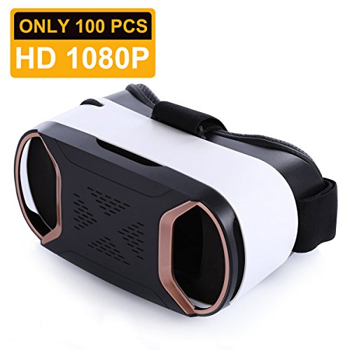 HongYuan 3D VR Headset Virtual Reality Glasses For Play Your Best Mobile Games & 360 Movies , More Comfortable VR Glasses Goggles Plus Special Adjustable Eye Care System by Hongyuan