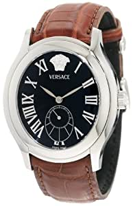Versace Men's OLA99D008 S059 Bond Sub Second Brown Crocodile Leather Watch