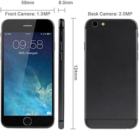 Celular Goophone i6 de color negro 4GB 4.7 pulgadas 3G Android 4.4 ...