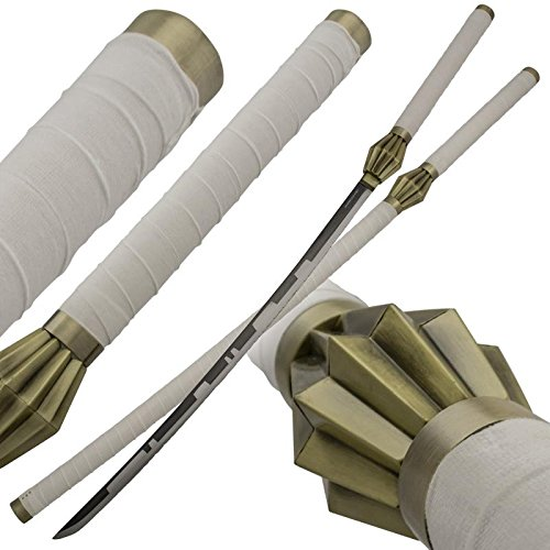 TIGER USA White Diamond Angel Wing Samurai Defeater Sword Set with Scabbard
