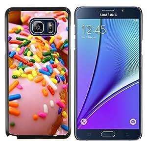 EJOOY---Cubierta de la caja de protección para la piel dura ** Samsung Galaxy Note 5 5th N9200 ** --rocía glaseado de color rosa dona dulces