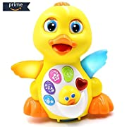 HOMOFY Yellow Duck Baby Lovely Dancing Singing, Music Lights and Walking, Learning Kids Toys for Girls and Boys Or Toddlers