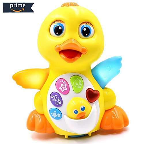 HOMOFY Yellow Duck Baby Lovely Dancing Singing, Music Lights and Walking, Learning Kids Toys for Girls and Boys Or Toddlers by HOMOFY