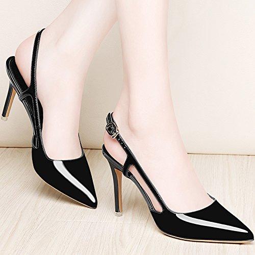 Word Avec L'En Fashion Vide Fine Chaussures Heeled Avec EU39 Femme SHOESHAOGE Les Pointe High Tête Femmes Sandales zqx7OwnXZ