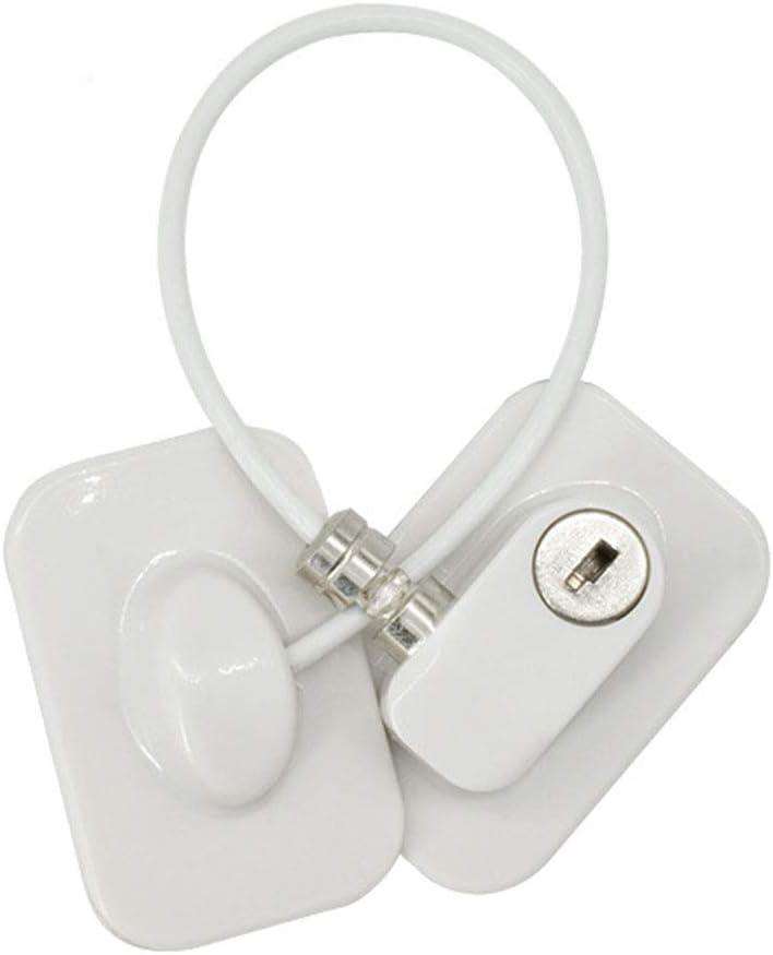 Alambre de Seguridad para ni/ños Autoadhesivo para Puerta de frigor/ífico de Seguridad para beb/és Cerradura de Ventana para Cable de Seguridad de beb/é con Llave Bclaer72