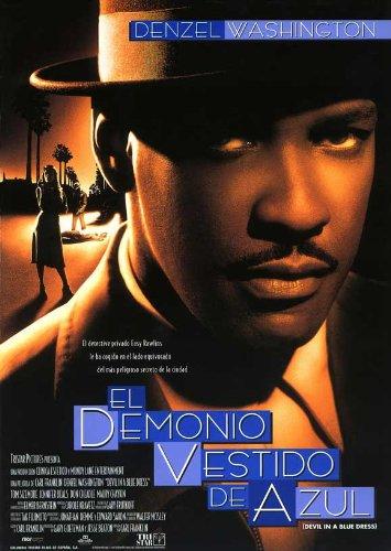 Devil in a Blue Dress Movie Poster (27 x 40 Inches - 69cm x 102cm) (1995) Spanish -(Nick(y) Corello)(Denzel Washington)(Jennifer Beals)(Don Cheadle)(Tom Sizemore)(Maury Chaykin)