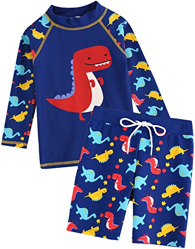 Vaenait baby 2T-7T Kids Boys Rashguard Swimsuit Long Shirt and Shorts Set