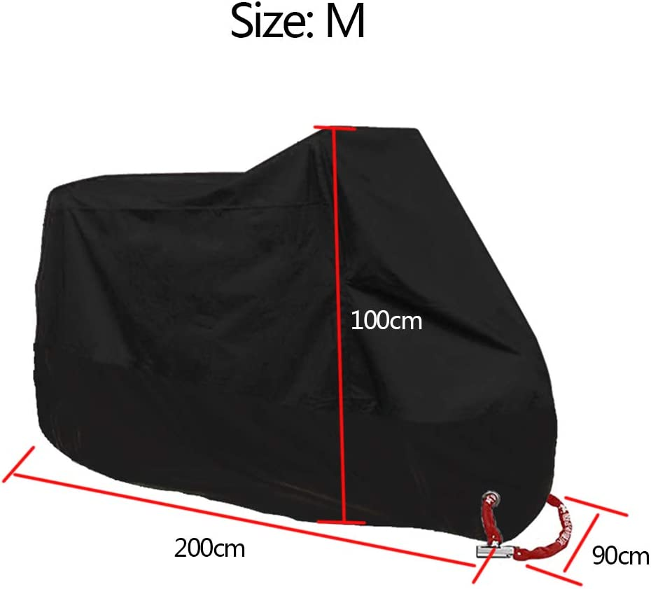 M hgfter Motorcycle Cover Waterproof Anti Dust Rust Rain UV All Weather Motorbike Protection Shelter with Lock-Holes
