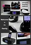 Ottavo OT3040B 30-Pin Audio System & Dual Alarm Clock , FM Radio for iPhone w/ remote control, Black color