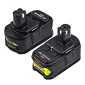 Boetpcr P108 Replacement for Ryobi 18V Lithium Battery 4.0Ah One Plus P122 P102 P103 P104 P105 P107 P109 Cordless Power Tools 2Pack