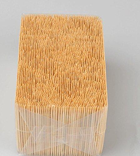 Super Valuable Bulk Bamboo Toothpicks Fruit Double or Single Sharp Tooth Sticks Natural Dental Sticks 1.6*65 Mm 3500 Pcs/bag