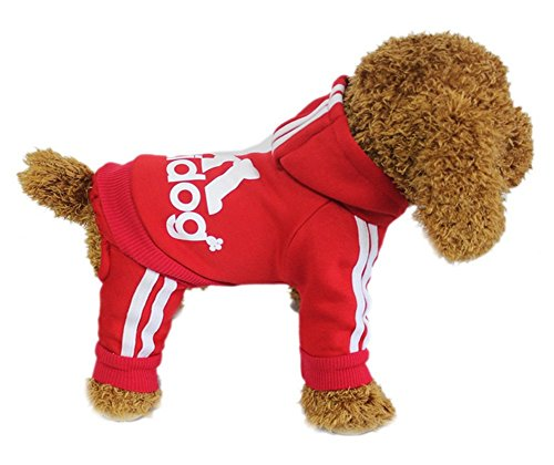 [YAAGLE Pet Warm Sweater Hoodie Coat Sweatshirt Clothes Costume Apparel for Dog Puppy Cat,Red] (Iron Man Cat Costume)