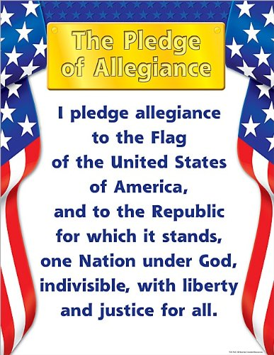 Teacher Created Resources Pledge of Allegiance Chart, Multi Color (7631)