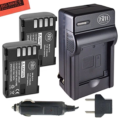 BM Premium 2-Pack of DMW-BLF19, DMW-BLF19e, DMW-BLF19PP Batteries and Battery Charger for Panasonic Lumix DC-GH5, DMC-GH3, DMC-GH3K, DMC-GH4, DMC-GH4K Digital Camera (Lumix Bundle Gh4)