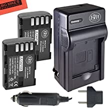 BM Premium 2-Pack of DMW-BLF19, DMW-BLF19e, DMW-BLF19PP Batteries and Battery Charger for Panasonic Lumix DMC-GH3, DMC-GH3K, DMC-GH4, DMC-GH4K Digital Camera