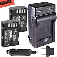 BM Premium 2-Pack of DMW-BLF19, DMW-BLF19e, DMW-BLF19PP Batteries and Battery Charger for Panasonic Lumix DC-GH5, DMC-GH3, DMC-GH3K, DMC-GH4, DMC-GH4K Digital Camera