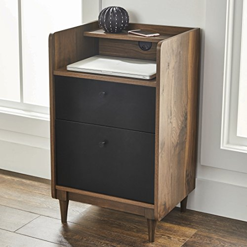 Better Homes and Gardens Montclair Pedestal File Cabinet, Vintage Walnut Finish ()