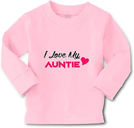 I Love My Auntie De niña Personalizado camiseta para bebé Ropa Niños