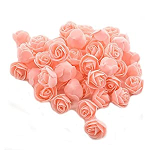 Ewandastore 100 Pcs 1.2 Inch Fake Rose Heads Real Looking Artificial Roses Flowers Heads for Wedding Bouquets Centerpieces Party Baby Shower Home DIY Decorations(Nude Pink) 8