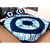 Bhagyoday Fashions - Indian Handmade Indigo Blue Shibori Print Duvet Cover - Mandala Cotton Quilt Cover - Bohemian Bedding - Comforter Blanket Cover With Pillowcases