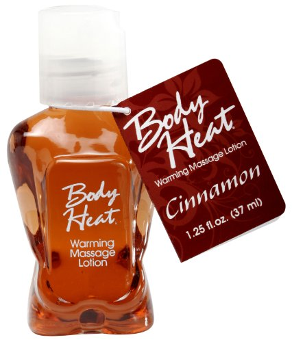 Body Heat Edible Warming Massage Lotion, Cinnamon, 1.25 Ounce