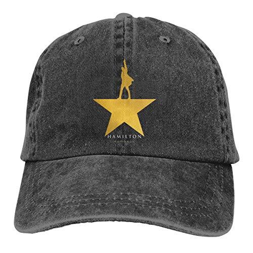 Musical Baseball (Musicals Hamilton Logo Baseball Cap for Men Women - 100% Cotton Classic Dad Hat Black)