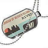 Dogtag USA Rivers Jordan of Beaver Island River - Michigan Dog tags necklace - Neonblond