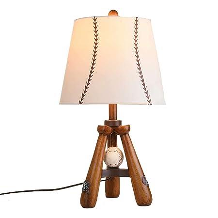 BDYJY * Lámparas de Mesa de Madera con Pantalla de Tela