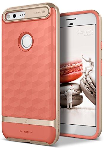 Caseology [Parallax Series] Google Pixel XL Case - [Award Winning Design] - Coral Pink