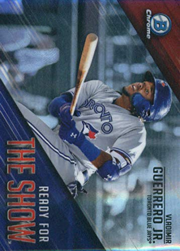 (2019 MLB Bowman Ready for the Show Chrome Refractor #RFTS-1 Vladimir Guerrero Jr. Toronto Blue Jays Official Baseball Card produced by Topps)