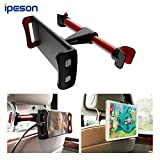 Ipeson Car Headrest Mount, Car Seat Tablet Holder / Car Mount Headrest Universal Mount Holder for iPad, Samsung Galaxy, Nintendo Switch, Fits all 4 to 10.5 inch Smartphones and Tablets