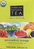 Organic Hawaiian Natural Tea Passionfruit Orange 8-Count Tea Bags