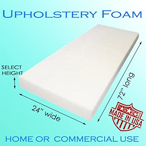 AK TRADING Foam Sheet, Upholstery Foam, Home and Commercial (0.5 x 24 x 72) AK TRADING CO.