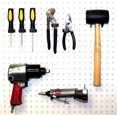 Locking Pegboard Hook (WallPeg pegboard hooks – locking peg hooks – 50 peg kit for tool storage and craft organizer)