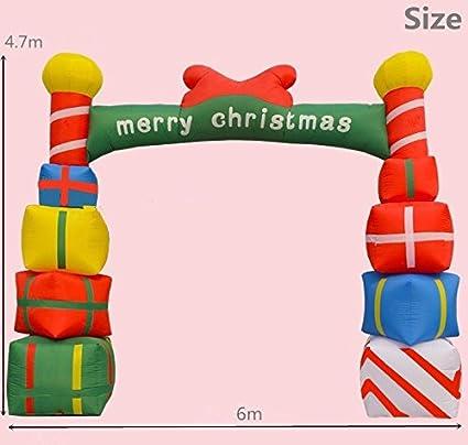 Amazon.com: cyana nuevo gigante hinchable arco de Navidad ...