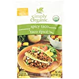 Simply Organic Spicy Taco Seasoning Mix 32gm, 12-count