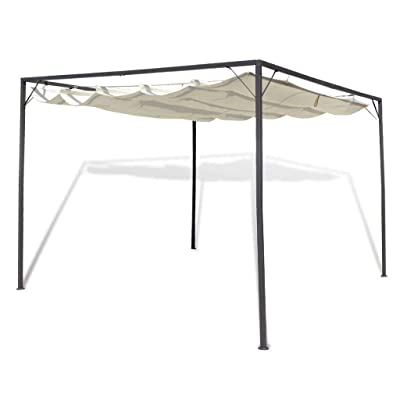 Garden Gazebo with Retractable Roof Canopy: Kitchen & Dining