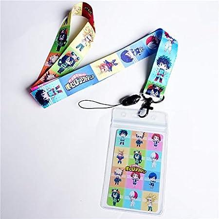 My Hero Academia Lanyard Midoriya Izuku Neck Strap Cell Phone Rope Keychain Gift