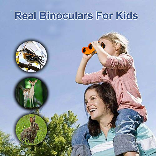 Toys for 3-12 Year Old Boys, TOG Gift 8x21 Compact Binoculars Toys for 3-12 Year Old Girls 2018 Christmas New Gifts for 3-12 Year Old Girls Boys Teen Girls Gifts Stocking Fillers Orange TGUS05