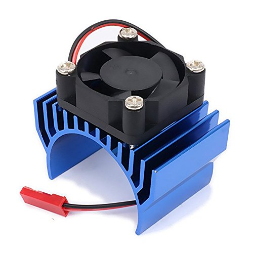 SODIAL(R) Heatsink Motor 540 550 with Fan Cooling Head Vent Top 6v JST Alloy Aluminum for 1/10 RC Hobby Model Car 1Pcs(Dark Blue) (Head Aluminum Cooling Heatsink)