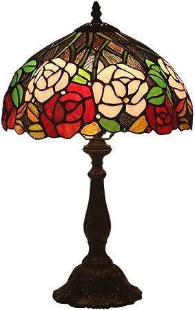XYANZ Lampe De Table Style Tiffany, Grande Lampe De Bureau