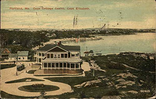 Capr Cottage Casino, Cape Elizabeth Portland, Maine Original Vintage Postcard