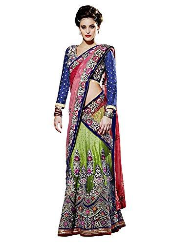 Mahotsav Women's Net , Satin Velvet , Viscose Butti Lehenga Choli ( 6423 ) Sarees at amazon