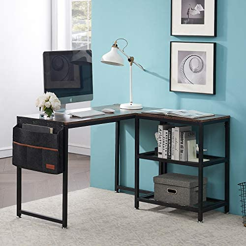 VECELO Computer Office Desk/Multipurpose Study Table H Shape