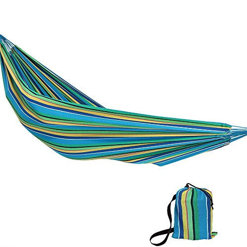 Sunnydaze Extra Large Brazilian Double Hammock with Carry Bag for Indoor or Outdoor Use, Weight Capacity: 450 Pounds, Sea Grass