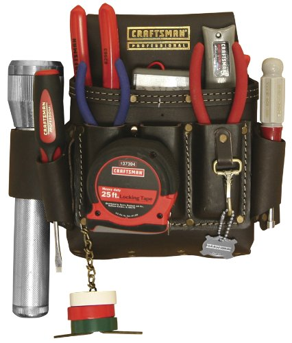 Craftsman 9-40527 Professional Leather Heavy Duty Electricians Apron by Craftsman