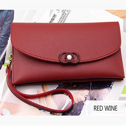 Women Large Travel Passport Wallet Multi Card Organizer Handbag with Coin Pocket