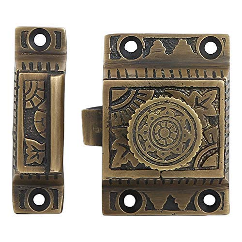 Antique Brass Finish Hardware - A29 Hardware Iron Cabinet Latch, Handmade, Antique Brass Finish, Sold as Each